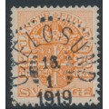 SWEDEN - 1912 25öre orange Official (Tjänstemärke), lines watermark, used – Facit # TJ51a