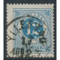 SWEDEN - 1872 12öre dull blue Ring Type, perf. 14, used – YLLESTAD 17 XII 1877 stämpel (R-län)