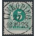 SWEDEN - 1872 5öre emerald-green Ring Type, perf. 14, used – Facit # 19c