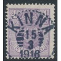 SWEDEN - 1911 4öre blue-lilac Small Coat of Arms, lines watermark, used – Facit # 74a