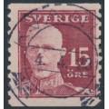 SWEDEN - 1920 15öre brownish carmine Gustav V, used – Facit # 150b