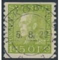 SWEDEN - 1925 145öre yellow-green Gustav V, used – Facit # 195A