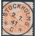 SWEDEN - 1940 25öre orange Gustav V, used – Facit # 277