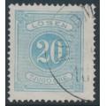 SWEDEN - 1874 20öre greyish blue Postage Due (Lösen), perf. 14, used – Facit # L6c