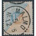 SWEDEN - 1874 1Kr brown/light blue Postage Due (Lösen), perf. 14, used – Facit # L10a