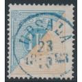 SWEDEN - 1877 1Kr light brown/dull ultramarine Postage Due (Lösen), perf. 13, used – Facit # L20c