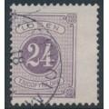 SWEDEN - 1882 24öre reddish lilac Postage Due (Lösen), perf. 13, used – Facit # L17c