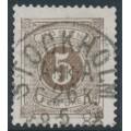 SWEDEN - 1877 5öre olivish brown Postage Due (Lösen), perf. 13, used – Facit # L13d