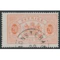 SWEDEN - 1874 20öre orange-red Large Official (Tjänstemärke), perf. 14, used – Facit # TJ6b