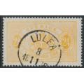 SWEDEN - 1874 24öre yellow-orange Large Official (Tjänstemärke), perf. 14, used – Facit # TJ7b