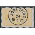 SWEDEN - 1874 24öre dull orange Large Official (Tjänstemärke), perf. 14, used – Facit # TJ7f