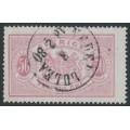 SWEDEN - 1874 50öre carmine-rose Large Official (Tjänstemärke), perf. 14, used – Facit # TJ9d