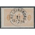 SWEDEN - 1881 3öre pale yellow-brown Large Official (Tjänstemärke), perf. 13, used – Facit # TJ12b