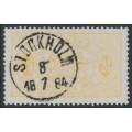 SWEDEN - 1881 24öre yellow Official (Tjänstemärke), perf. 13, used – Facit # TJ20d