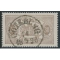 SWEDEN - 1881 30öre greyish brown Official (Tjänstemärke), perf. 13, used – Facit # TJ21g