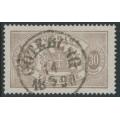 SWEDEN - 1881 30öre greyish brown Large Official (Tjänstemärke), perf. 13, used – Facit # TJ21g