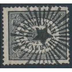SWEDEN - 1859 3öre black Local Stamp (Lokalbref), used – Facit # 6a³