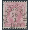 SWEDEN - 1886 10öre dull violet-carmine Oscar II with posthorn, used – Facit # 45a