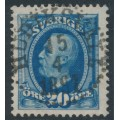 SWEDEN - 1891 20öre ultramarine Oscar II (type I), used – Facit # 56I