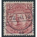 SWEDEN - 1918 12öre carmine Gustaf V in medallion, KPV watermark, used – Facit # 83bbz