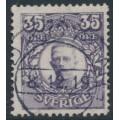 SWEDEN - 1911 35öre bluish violet Gustaf V in medallion, KPV watermark, used – Facit # 89abz