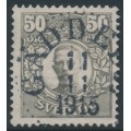 SWEDEN - 1912 50öre grey Gustaf V in medallion, KPV watermark, used – Facit # 91abz