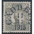 SWEDEN - 1912 50öre grey Gustaf V in medallion, KPV watermark, used – Facit # 91abz