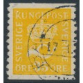 SWEDEN - 1922 35öre yellow Crown & Posthorn, '/' + KPV watermark, used – Facit # 156cxz