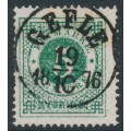 SWEDEN - 1872 5öre dark green Ring Type, perf. 14, used – Facit # 19f