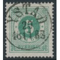 SWEDEN - 1877 5öre pale bluish green Ring Type, perf. 13, used – Facit # 30e
