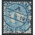 SWEDEN - 1918 27öre light blue Gustaf V in medallion, used – Facit # 87