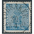 SWEDEN - 1858 12öre blue Coat of Arms, used – Facit # 9c3