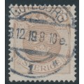 SWEDEN - 1919 3öre brown Small Coat of Arms, inverted lines watermark, used – Facit # 73cx