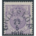 SWEDEN - 1911 4öre blue-lilac Small Coat of Arms, lines + KPV watermark, used – Facit # 74cz