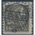 SWEDEN - 1921 140öre olivish grey-black Gustav Vasa (B paper), used – Facit # 155b