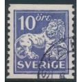 SWEDEN - 1934 10öre ultramarine-violet Lion, perf. 9¾ two sides, signed KAN, used – Facit # 146Aa