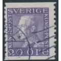 SWEDEN - 1921 20öre ultramarinish violet Gustav V, perf. 9¾ two sides, signed KAN, used – Facit # 179Ag