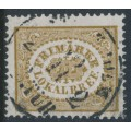 SWEDEN - 1862 3öre olive-brown Local stamp (Lokalbref), used – Facit # 13a