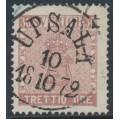 SWEDEN - 1858 30öre rose-brown Coat of Arms, used – Facit # 11g