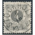 SWEDEN - 1879 4öre grey Ring Type, perf. 13, used – Facit # 29d