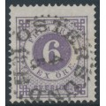 SWEDEN - 1888 6öre blue-lilac Ring Type, perf. 13 with posthorn, used – Facit # 44a