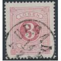 SWEDEN - 1874 3öre violet-carmine Postage Due (Lösen), perf. 14, used – Facit # L2b