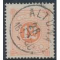 SWEDEN - 1874 12öre orangish red Postage Due (Lösen), perf. 14, used – Facit # L5b