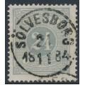 SWEDEN - 1874 24öre olivish grey Postage Due (Lösen), perf. 14, used – Facit # L7c