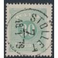 SWEDEN - 1874 30öre light green Postage Due (Lösen), perf. 14, used – Facit # L8b²