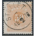 SWEDEN - 1874 50öre yellowish orange-brown Postage Due (Lösen), perf. 14, used – Facit # L9c