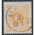SWEDEN - 1877 6öre reddish orange Postage Due (Lösen), perf. 13, used – Facit # L14c