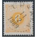 SWEDEN - 1877 6öre dull orange Postage Due (Lösen), perf. 13, used – Facit # L14f