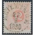 SWEDEN - 1882 12öre pale orange-red Postage Due (Lösen), perf. 13, used – Facit # L15c