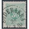 SWEDEN - 1877 30öre light bluish green Postage Due (Lösen), perf. 13, used – Facit # L18c